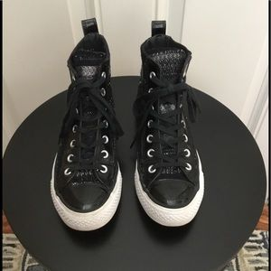 Converse All Star Black/Blue High Top Sneakers